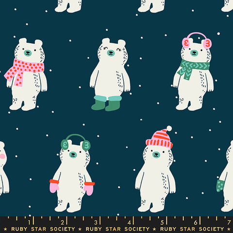 NEW Ruby Star Society - Flurry - Snow Bears Peacock