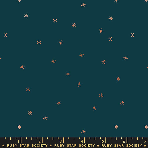 modern metallic spark blender quilting fabric with scattered stars