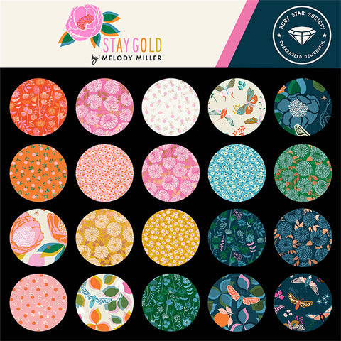 **NEW ** RESERVATION Ruby Star Society - Stay Gold- Full Collection Fat Quarter Bundle (28 pieces)