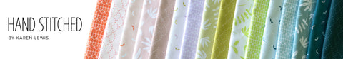 ** RESERVATION ** Hand Stitched by Karen Lewis for Figo Fabrics - Full Fat Quarter Bundle (16 pieces) **