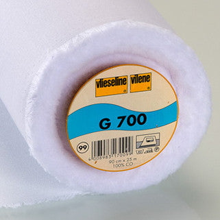 Interfacing - Vilene Woven Interlining Medium Weight White 90cm X 25m (G700)
