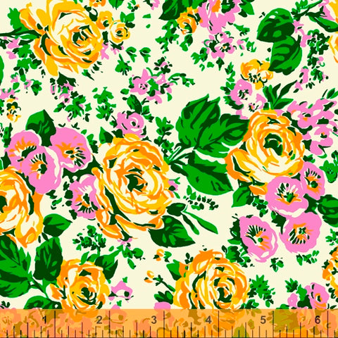 floral fabric from Posy 60s retro