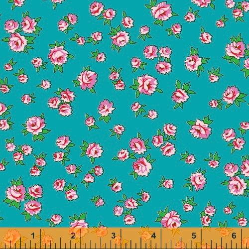 Posy from Annabel Wrigley - Little Roses Turquoise - NEW