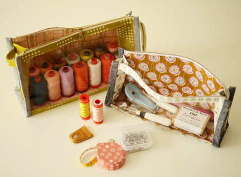 Boxy Clear Pouch by Aneela Hoey - Paper Pattern