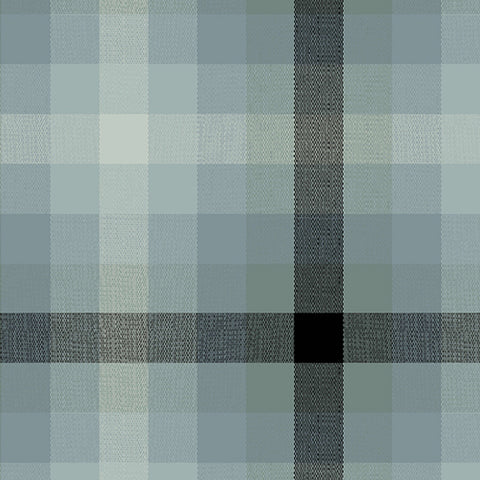 Kaleidoscope - Stripes and Plaids by Alison Glass  - Plaid Charcoal