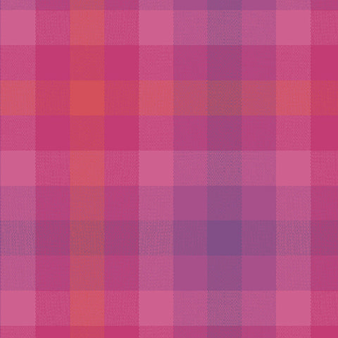 Kaleidoscope - Stripes and Plaids by Alison Glass  - Plaid Magenta