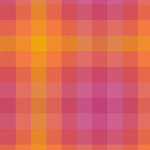 Kaleidoscope - Stripes and Plaids by Alison Glass  - Plaid Sunrise