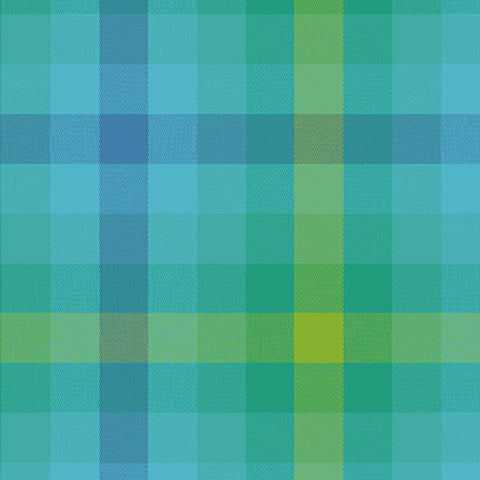 Kaleidoscope - Stripes and Plaids by Alison Glass  - Plaid Teal