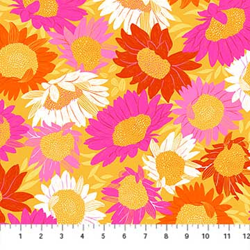 Figo Fabrics - Flora - Sunflowers Multi - NEW!