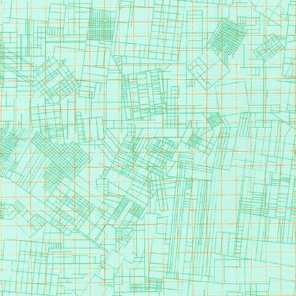 Collection CF by Carolyn Friedlander - City Plan Mint