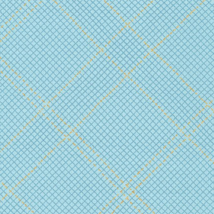 Collection CF by Carolyn Friedlander - Sparkle Grid Dusty Blue