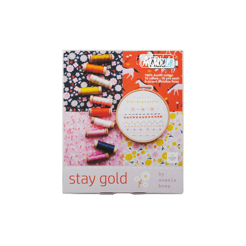 Stay Gold Aurifloss - Aurifil Thread Set