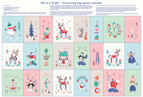 Dashwood Studio - Merry & Bright Advent Drawstring Pouches Panel