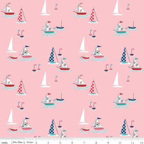 Tasha Noel - Seaside - Riley Blake - Seaside Boats Pink