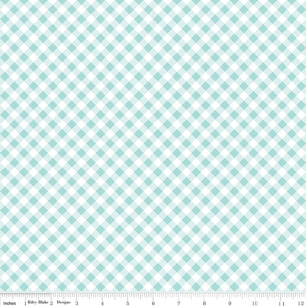 Tasha Noel - Seaside - Riley Blake - Seaside Gingham Aqua