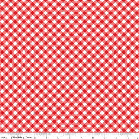 Tasha Noel - Seaside - Riley Blake - Seaside Gingham Red