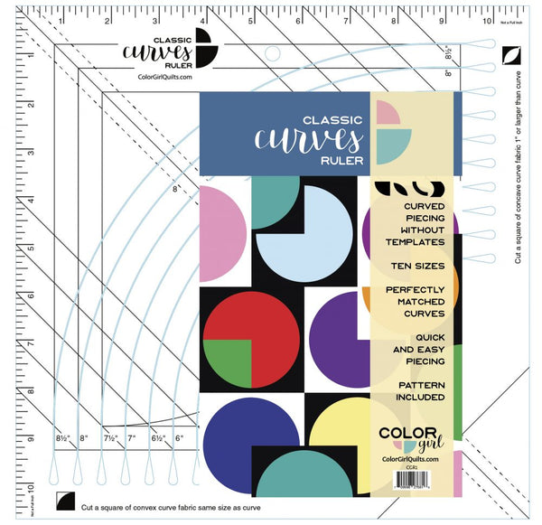 Classic Curves Ruler by Color Girl Quilts
