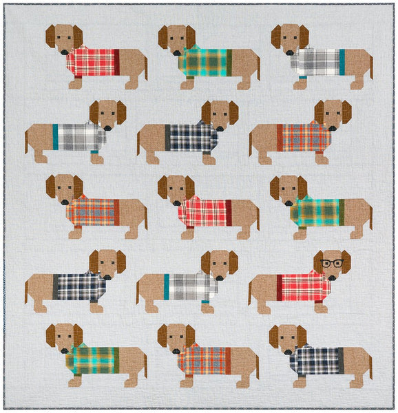 Elizabeth Hartman - Dogs in Sweaters Quilt Pattern