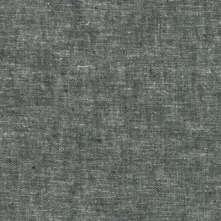 Robert Kaufman - Yarn Dyed Essex Linen - Black