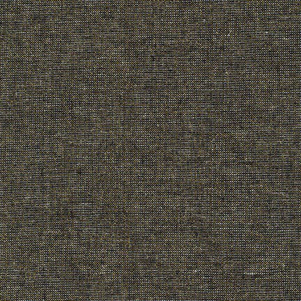 Metallic Essex Yarn Dyed Linen - Black - Robert Kaufman