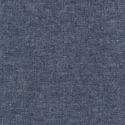 Metallic Essex Yarn Dyed Linen - Midnight - Robert Kaufman
