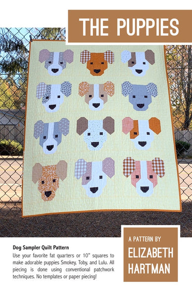 NEW! The Puppies by Elizabeth Hartman - Quilt Pattern