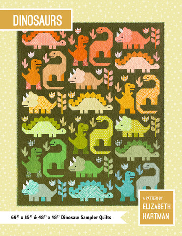 NEW! Dinosaurs by Elizabeth Hartman - 'Block of the Month' Quilt Club Registration