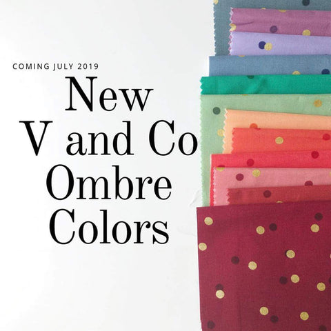 V&Co Confetti Ombre New Colours ( Colours and Neutrals) - Full Fat Quarter Bundle (17 pieces)