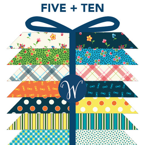 ** RESERVATION ** Five & Ten by Denyse Schmidt for Windham Fabrics - Full Fat Quarter Bundle (19 pieces) **