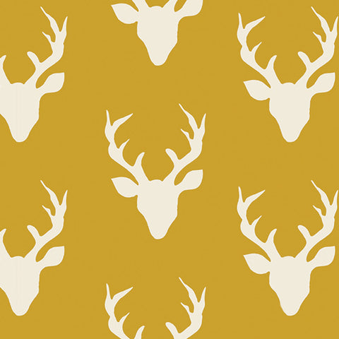 Hello Bear - Art Gallery Fabric - Buck Forest Mustard