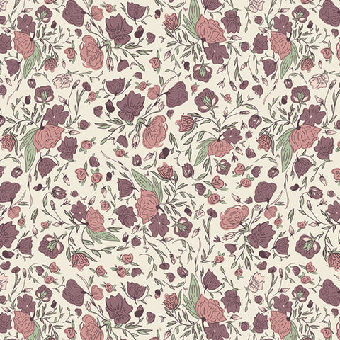 Hello Ollie - Art Gallery Fabric -  Blossom Drift Flushed