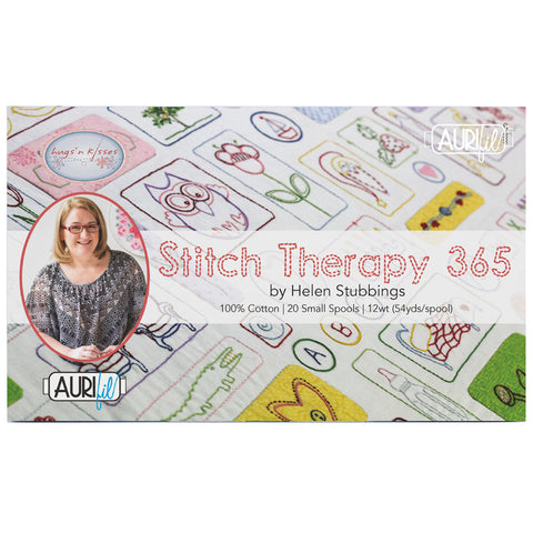 Stitch Therapy 365 by Helen Stubbings - 12 wt Aurifil Thread Set