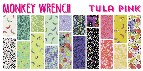 RESERVATION Monkey Wrench by Tula Pink - Full Fat Quarter Bundle (19 pieces)
