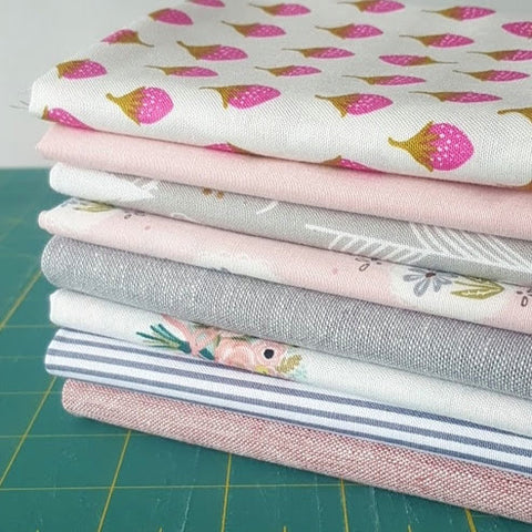 Steel & Pink Fat Quarter Bundle