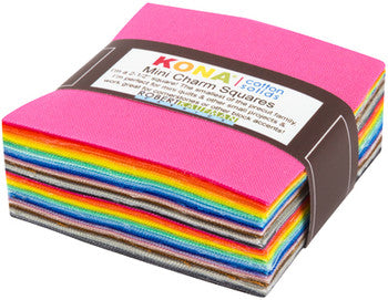 Kona Mini Charm Pack - New Colours 2017