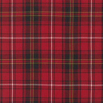 Robert Kaufman - House of Wales Plaid - Red
