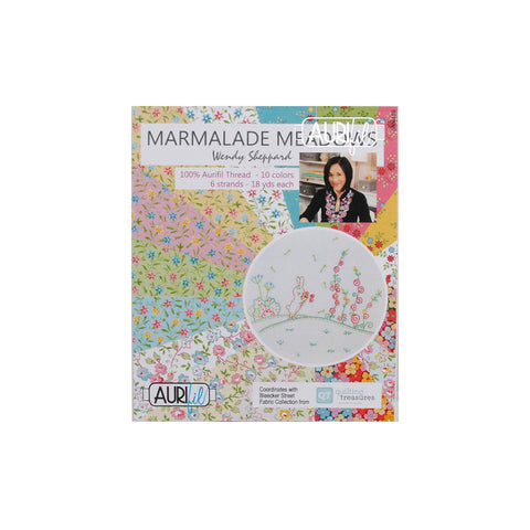 Marmalade Meadows Aurifloss Collection by Wendy Sheppard - Aurifil Thread Set