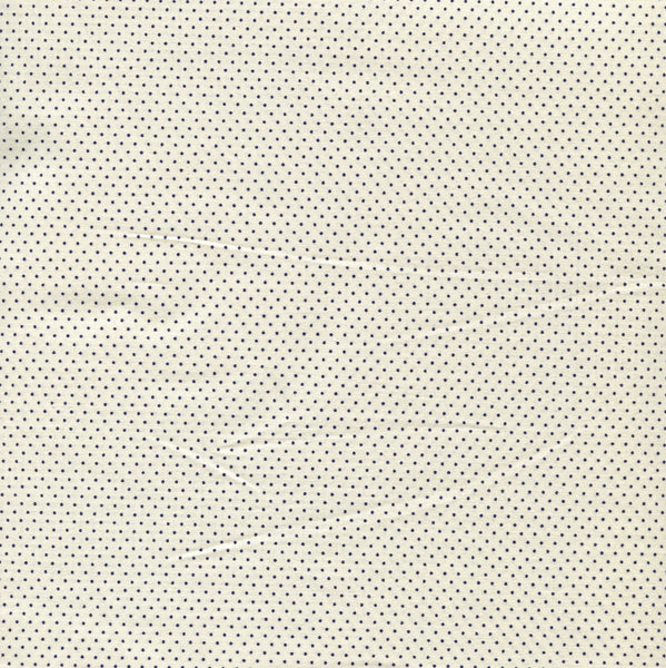 Sevenberry Fabric - Spots - Black on Ivory