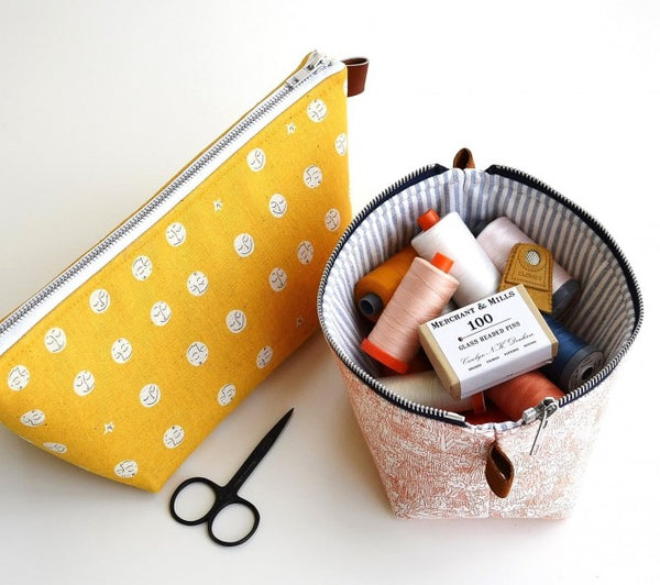 New Zippered Basket Pouch by Aneela Hoey - Project Kit (Haberdashery and Paper Pattern Only) - Large Pouch