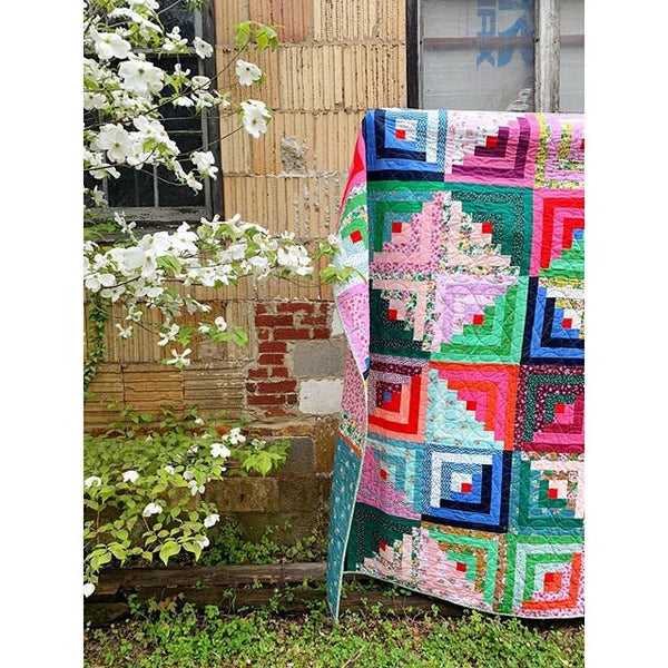 **RESERVATION** Posy and Ruby & Bee Log Cabin Quilt Kit - NEW