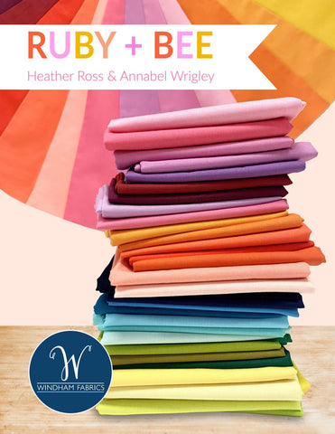 Ruby & Bee Solids - Full Fat Quarter Bundle (37 pieces)