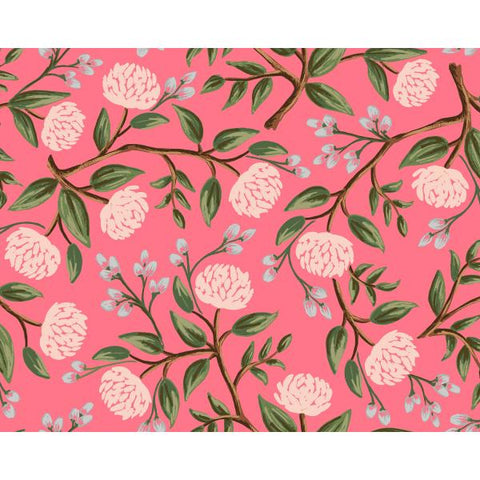 Cotton + Steel -  Wildwood - Peonies Pink