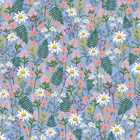 Cotton + Steel -  Wildwood - Wild Flowers Blue