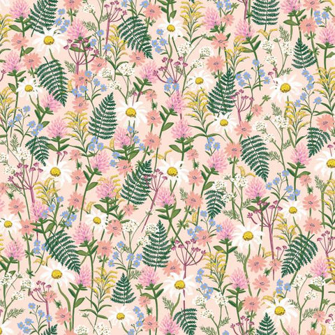 Cotton + Steel -  Wildwood - Wild Flowers Pink