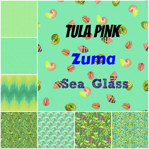 Tula Pink - Zuma - Sea Glass Colourway - Fat Quarter Bundle (8 pieces)