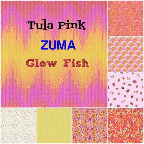 Tula Pink - Zuma - Glow Fish Colourway - Fat Quarter Bundle (8 pieces)