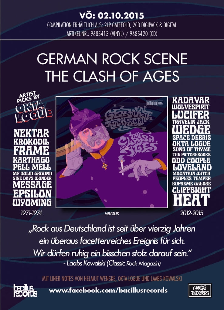 2xLP GERMAN ROCK SCENE - The Clash Of Ages
