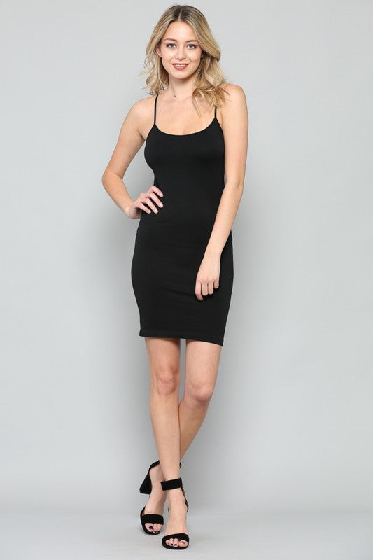 Seamless Tank Dress - Black