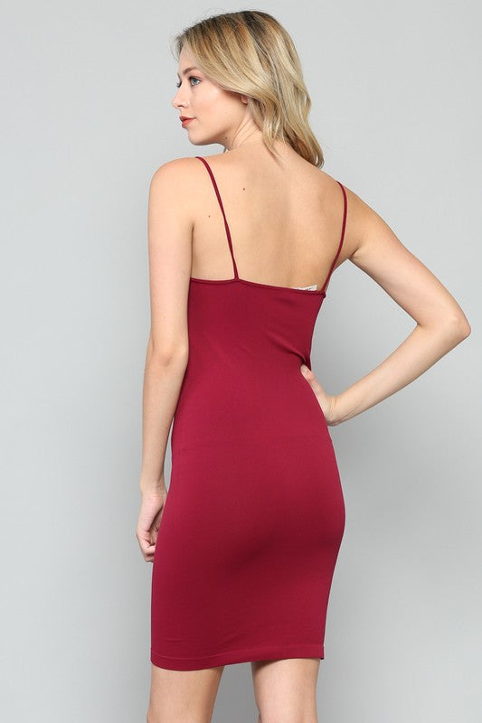 Seamless Tank Dress - Wine