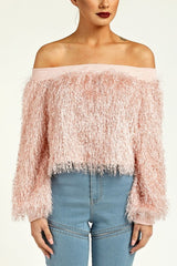 Bardot Shaggy Top